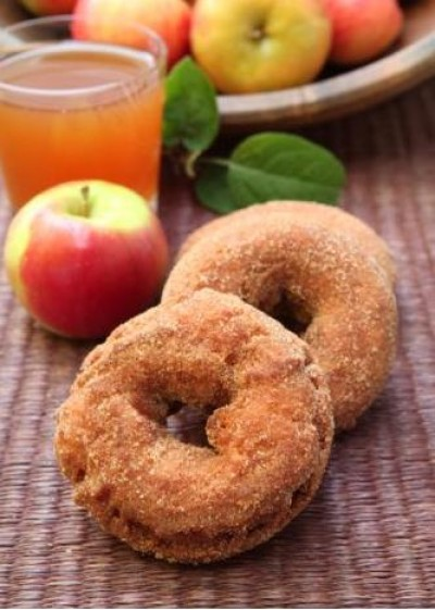 Applesauce Doughnuts and Fresh Cider