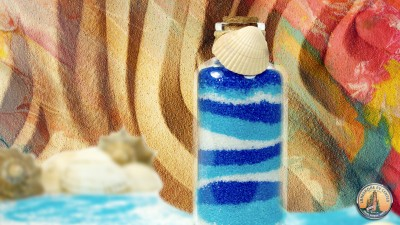 Colorful Sand And Glass Bottle