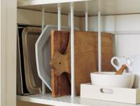 DIY Tension Rod Cupboard Dividers