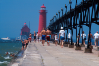 Lighthouse at Grand Haven State Park