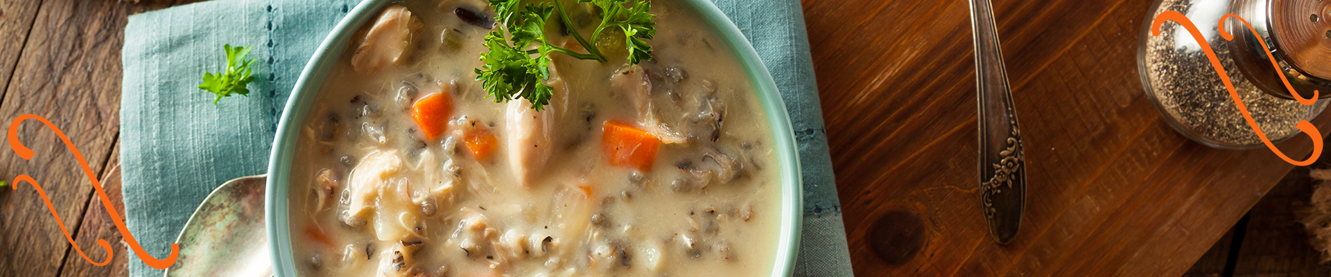 Wild rice and chicken soup - an easy wintertime recipe to make while RVing
