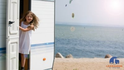 girl in RV in warm weather