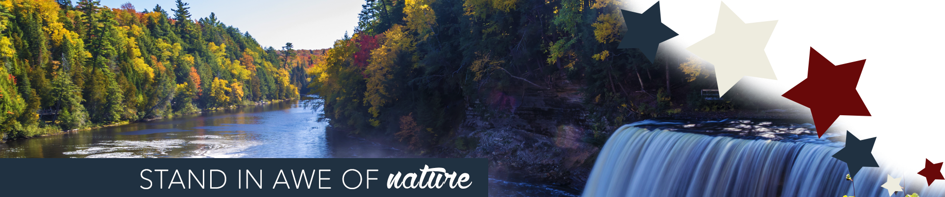 Stand in awe of nature at Tahquamenon Falls State Park