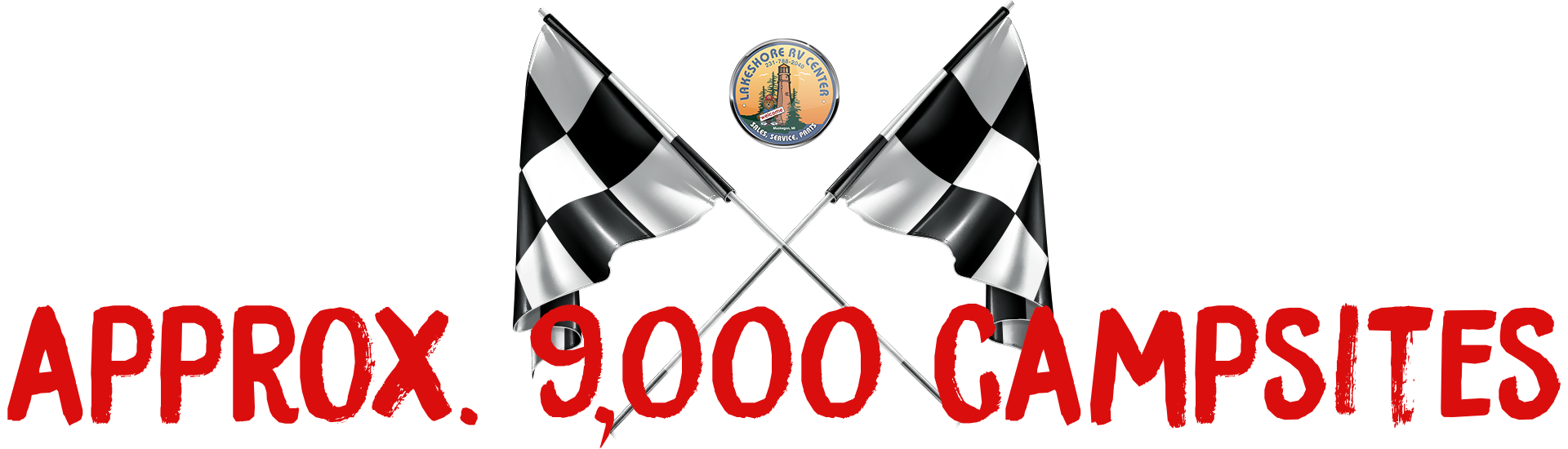 approximately 9000 campsites