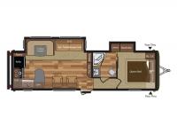 2015 Hideout 30RKDS Floor Plan