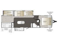 2015 Outback 323BH Floor Plan