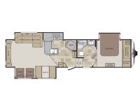 2015 Cougar 327RES Floor Plan