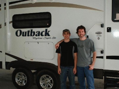 Jim Woody of Baldwinsville, NY with their Outback 312BH