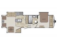 2014 Cougar 313RLI Floor Plan