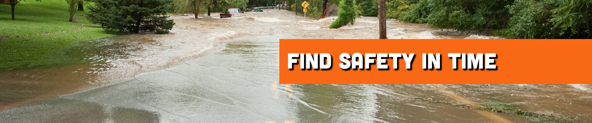 Find safety in time before flooding becomes too bad while driving your RV.