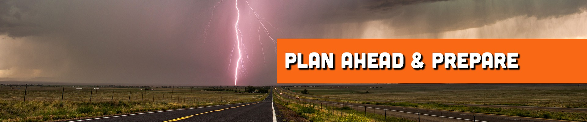 Plan ahead and prepare for storms while driving your RV.