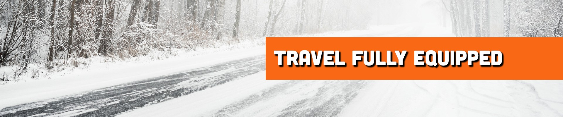 Travel fully equipped when driving your RV in the snow.