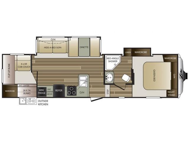 2016 Cougar Xlite 29rbs Floor Plan