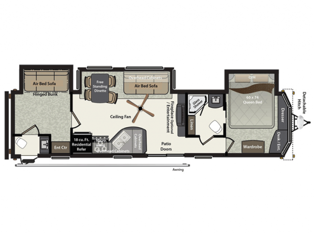 2016 Residence 406fb Floor Plan Park Trailer Keystone RV
