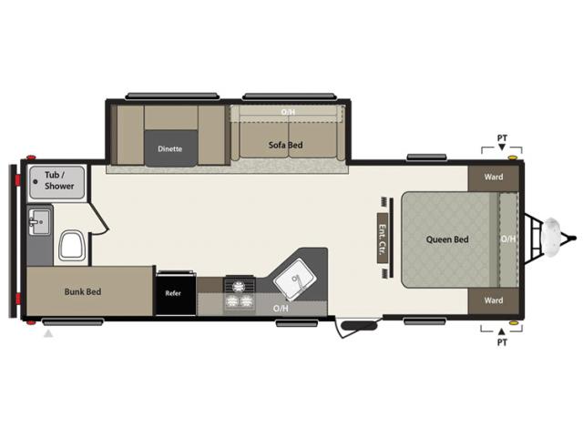 2016 Summerland 2670bh Floor Plan Travel Trailer Keystone RV