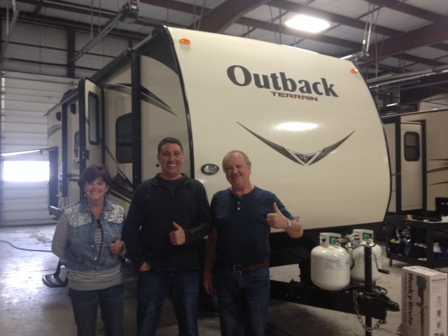 David Watt of Bend, OR with their Outback Terrain 220TRB