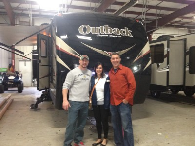 Michael Dartt of Mcdonald, PA with their Outback 322BH