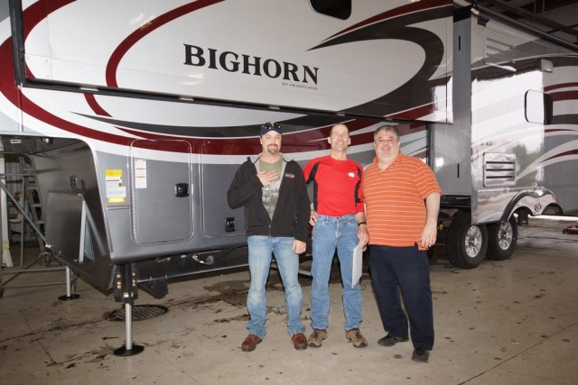 Paul Doyle of Vida, MT with their Bighorn 3585RL