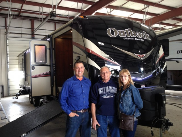 Dave Langlois of Oshawa, AB with their Outback 324CG