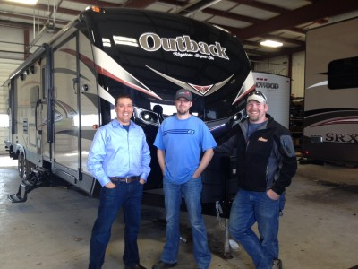 Matt Sokolskiy of Wasilla with their Outback 324CG