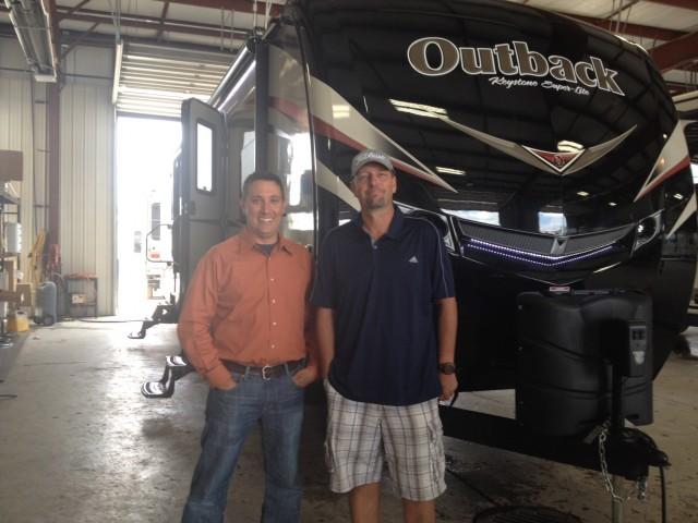 Brian Link of Lafayette, IN with their Outback 312BH