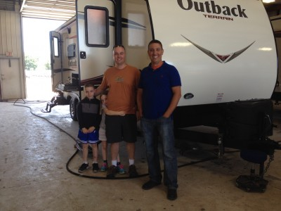 Tom Wasserman of Traverse City, MI with their Outback Terrain 250TRS