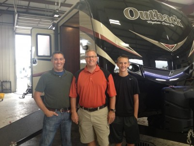 Robert Dampier of Riverton with their Outback 324CG