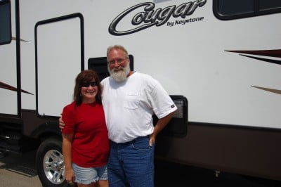 James Baker of Fayetteville, NC with their Cougar 326SRX