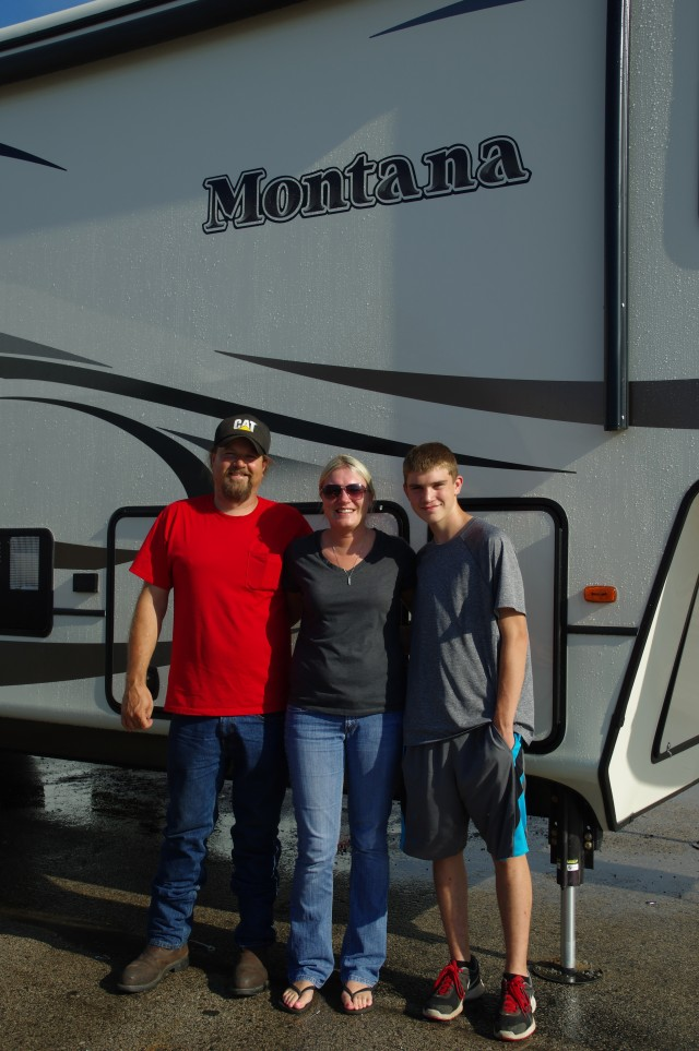Tamara Darby of Muskegon, MI with their Montana 329RLS