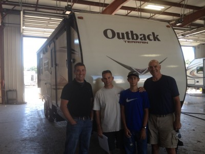 Russ Lopez of Pass Christian, MS with their Outback Terrain 230TRS
