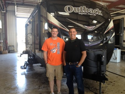 Brian Nero of Rensselaer, IN with their Outback 312BH