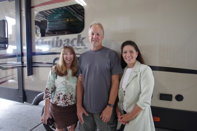 Robert Vaillancourt of Pickerington, OH with their Outback 298RE