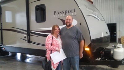 Carrie Bentz of Muskegon, MI with their Passport Grand Touring 2890RL
