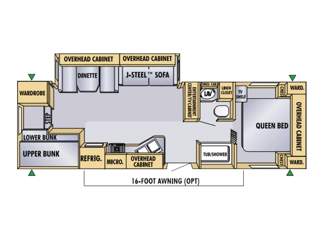 2005 Jayco Eagle 298bhs Floor Plan Travel Trailer