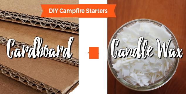 Cardboard Chips DIY Campfire Starter