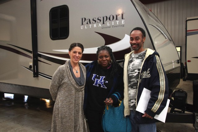 Monica Scott at Lakeshore RV with their Passport Grand Touring 3350BH