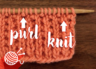 Purl-Knit Stitch