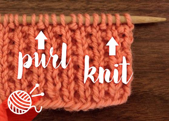 Purl-Knit Stitch