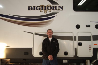 Jason Mckinney at Lakeshore RV with their Bighorn 3760EL