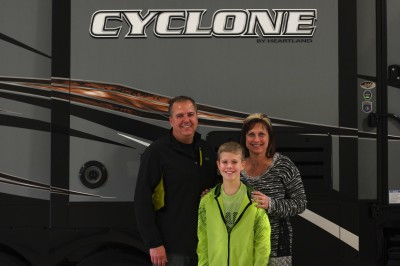 Jack Johnson at Lakeshore RV with their Cyclone 4113