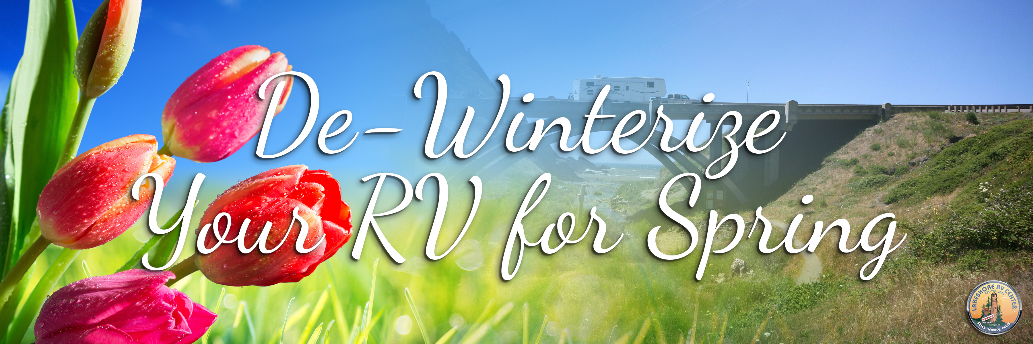 De-Winterize Your RV for Spring  banner
