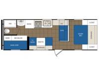 2014 Avenger 26BH Floor Plan