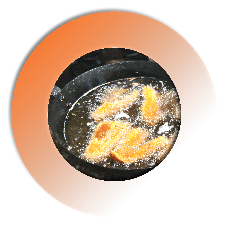 Frying Walleye Fish