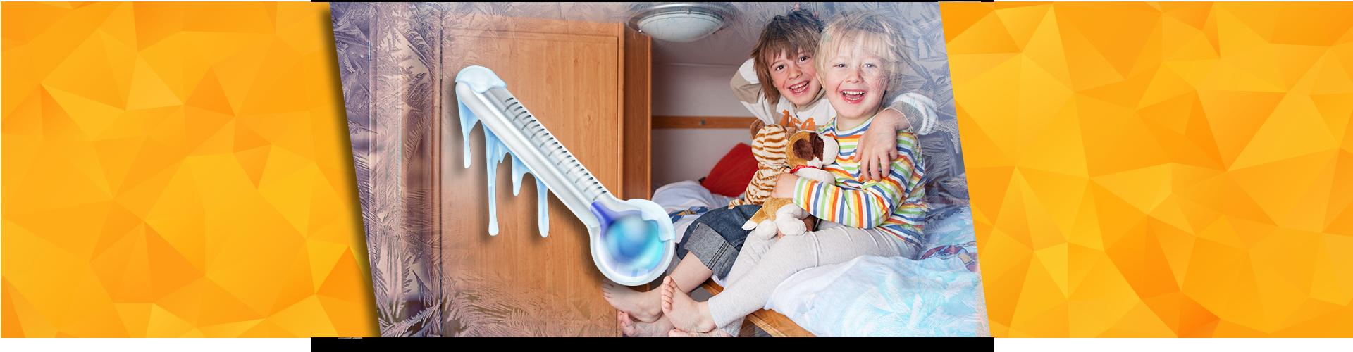 Kids in cold RV