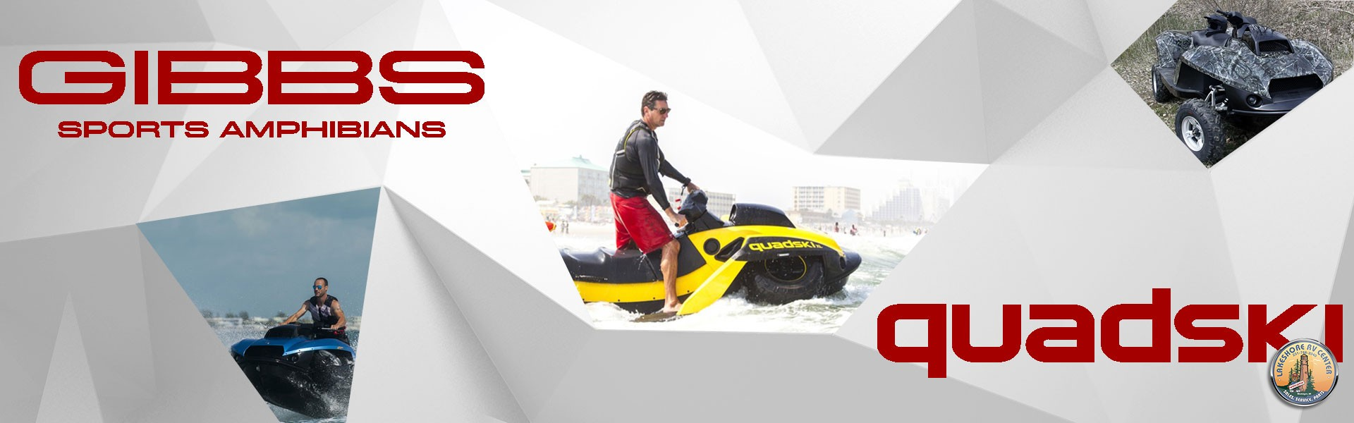The 4 Wheeler Jet Ski From Gibbs Sports Amphibians Cleverly Named Quadski Is An Impressive Hybrid Creation That Combines A Personal Watercraft With