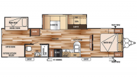 2016 Wildwood 32BHDS Floor Plan