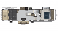 2017 Carbon 364 Floor Plan