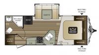 2017 Cougar Xlite 21RBS Floor Plan