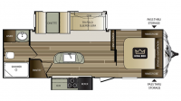 2016 Cougar Xlite 26RBI Floor Plan