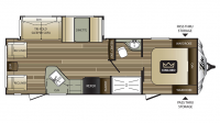 2017 Cougar Xlite 28RLS Floor Plan